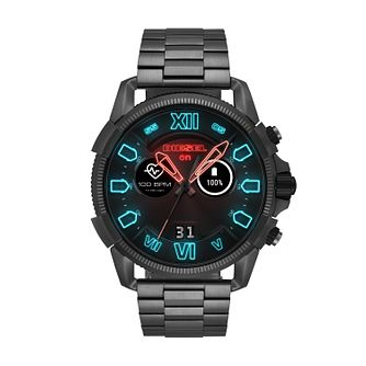 Diesel On Men's Digital Animated Gunmetal Bracelet Watch - Product number 9805109
