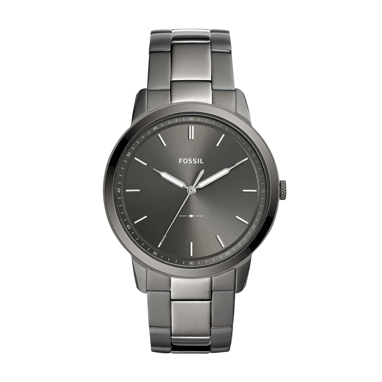 Fossil Minimalist Three Hand Smoke Stainless Steel Watch - Product number 9805702