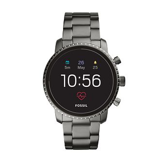 Fossil Q Explorist Gen 4 Smartwatch Smoke Stainless Steel - Product number 9805710