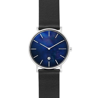Skagen Black Leather Strap Watch - Product number 9805753