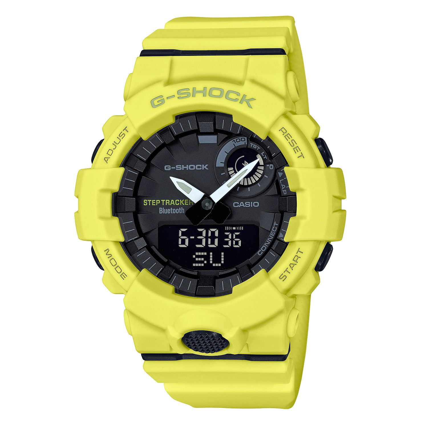 Casio G-Shock Men's Step Tracker Resin Yellow Strap Watch - Product number 9806105