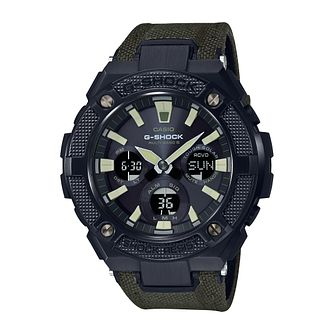 Casio G-Shock G-Steel Military Men's Radio Green Strap Watch - Product number 9806164