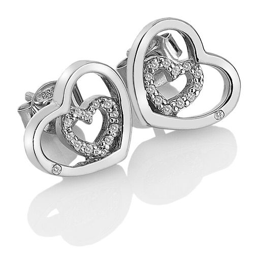 Hot Diamonds Sterling Silver Adorable Heart Stud Earrings - Product number 9806377
