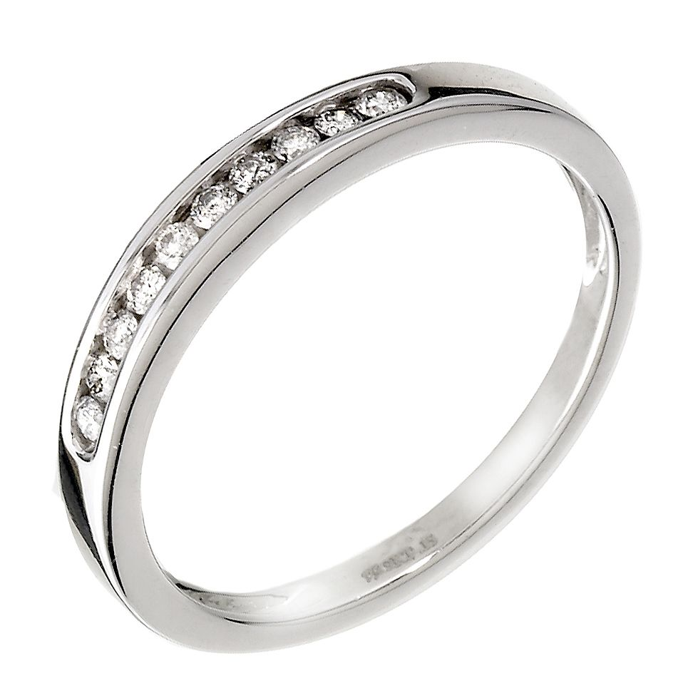 9ct White Gold 0.15ct Diamond Eternity Ring - Product number 9806601
