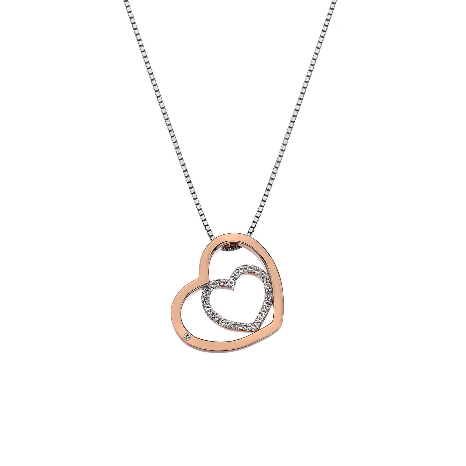Hot Diamonds Rose Gold Plated Adorable Hearts Pendant - Product number 9807403