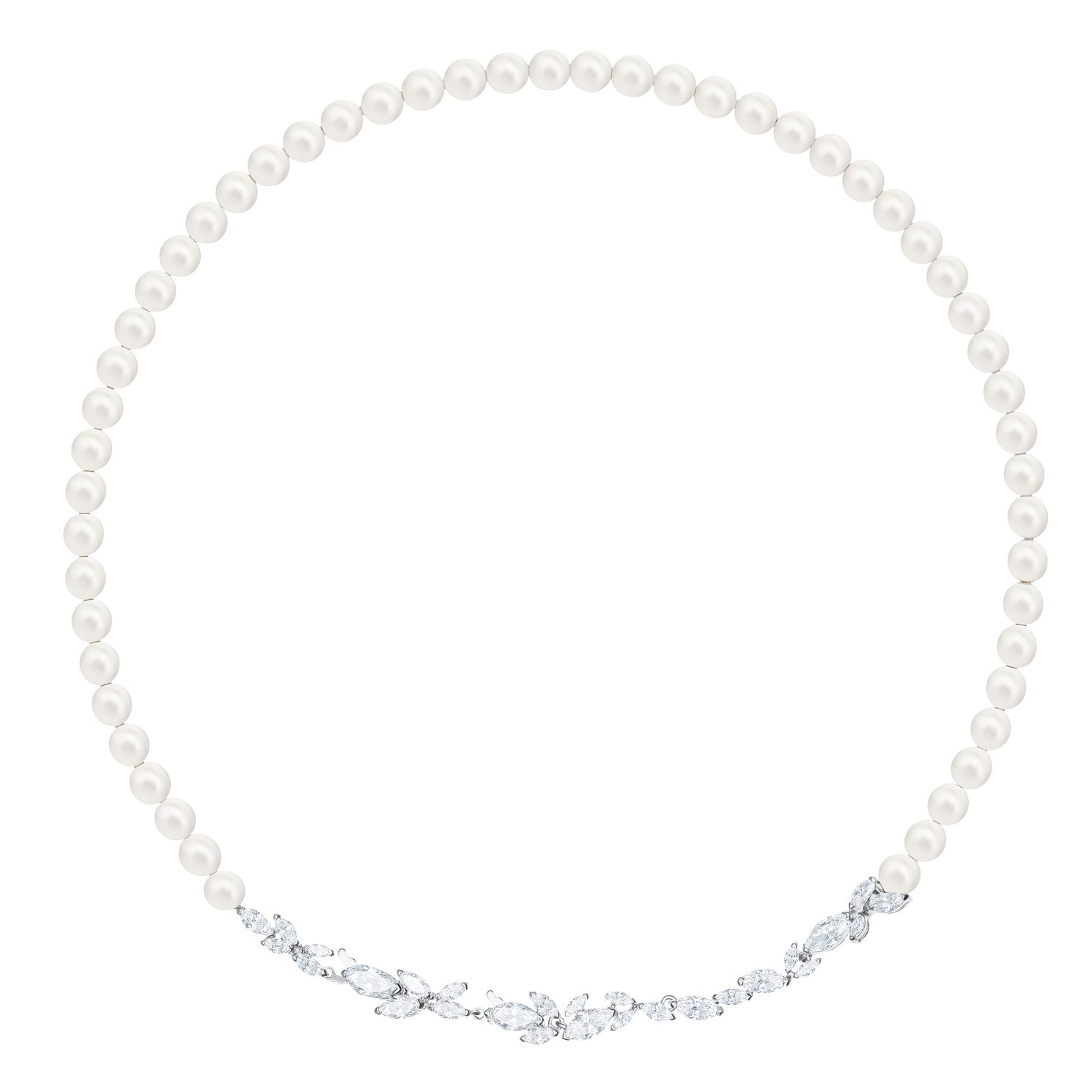Swarvoski Crystal Pearl Louison Rhodium Plated Necklace - Product number 9807594