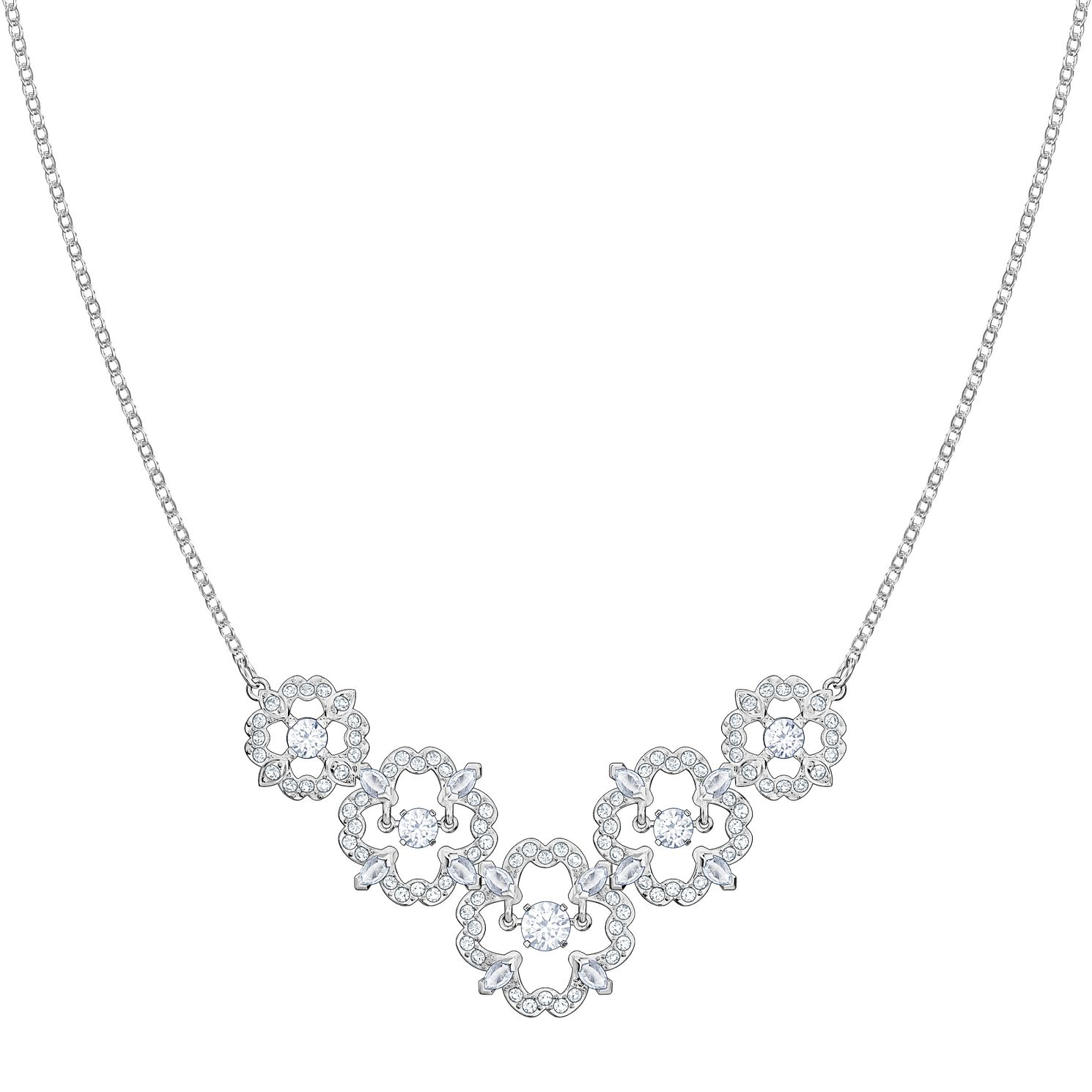 Swarvoski Ladies' Rhodium  Dance Flower Necklace - Product number 9807624