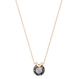 Swarvoski Ladies Rose Gold Plated Bella Black Pendant - Product number 9807667