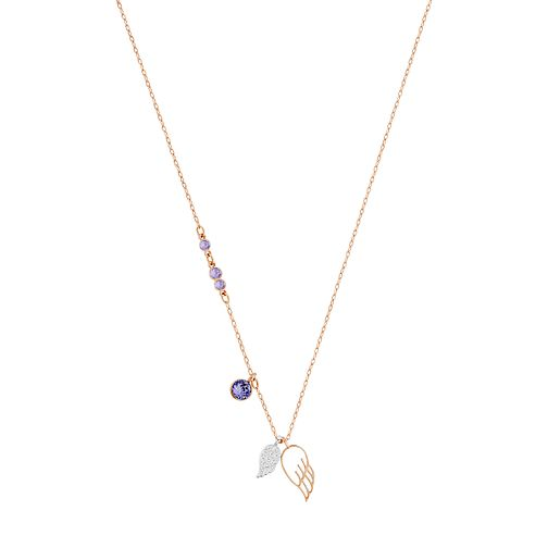 Swarvoski Ladies' Rose Gold Plated Duo Wing Necklace - Product number 9807772