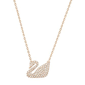Swarvoski Ladies' Rose Gold Plated Iconic Swan Pendant - Product number 9807802