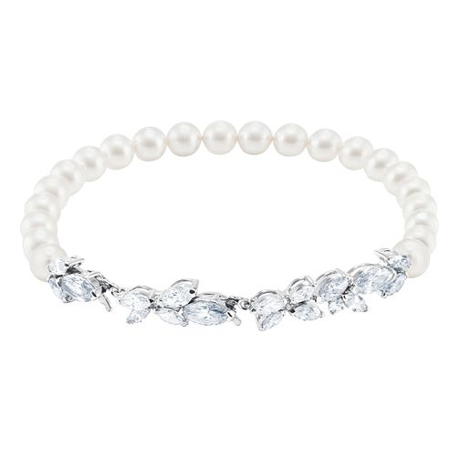 Swarvoski Crystal Pearl Louison Rhodium Plated Bracelet - Product number 9807853