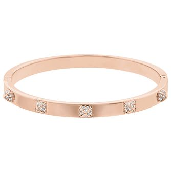 Swarovski Crystal Rose Gold Plated Tactic Bangle - Product number 9807861