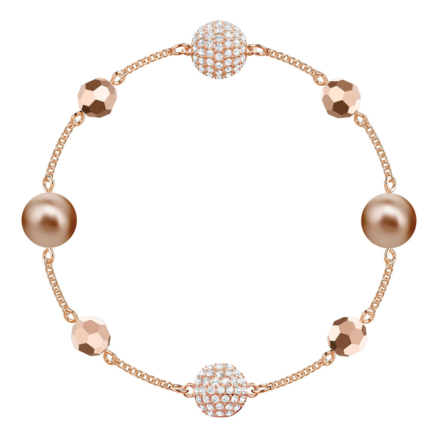 Swarovski Remix Rose Gold Plated Pearl Bracelet - Product number 9807896