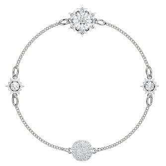 Swarvoski Ladies' Rhodium Plated Snowflake Remix Bracelet - Product number 9807918