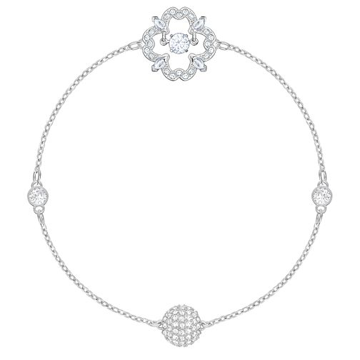 Swarvoski Ladies' Rhodium Remix Flower Bracelet - Product number 9807942