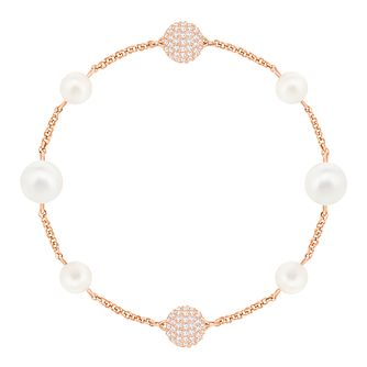 Swarvoski Crystal Pearl Rose Gold Plated Remix Bracelet - Product number 9807950