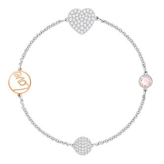 Swarvoski Ladies' Rhodium Remix Heart Love Bracelet - Product number 9807985