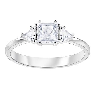 Swarvoski Ladies' Rhodium Plated Attract Ring - Product number 9808116