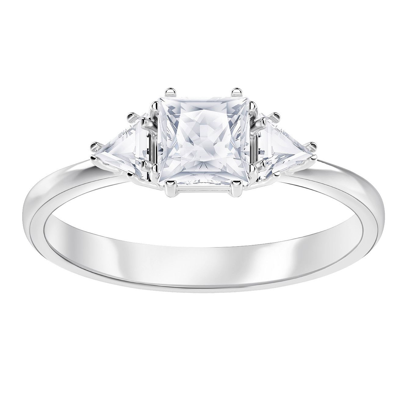 Swarvoski Ladies' Rhodium Plated Attract Ring - Product number 9808124