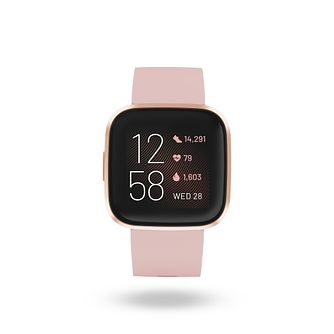 Fitbit Versa 2 Rose Pink Silicone Strap Smart Watch - Product number 9808442