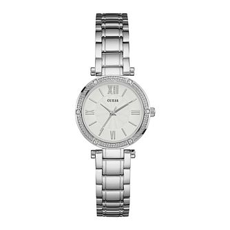 Guess Ladies' White Dial Silver Watch - Product number 9808574