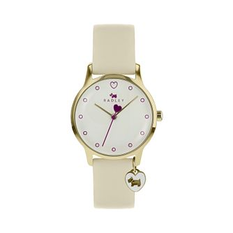 Radley London Ladies' Cream Dial White Leather Strap Watch - Product number 9808825