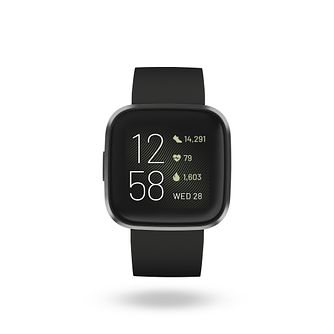 Fitbit Versa 2 Black Silicone Strap Smart Watch - Product number 9808906