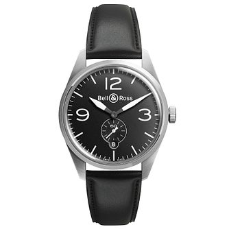 Bell & Ross Vintage men's stainless steel black strap watch - Product number 9825479