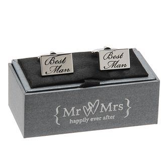 Mr & Mrs Special Memories Black Engraved Best Man Cufflinks - Product number 9825878