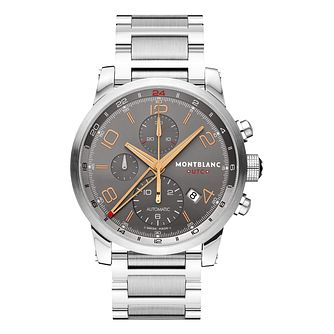 Montblanc Chronovoyager men's stainless steel bracelet watch - Product number 9891943