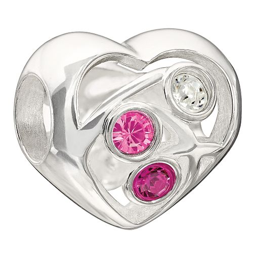 Chamilia Blooming Love pink Swarovski element bead - Product number 9900209