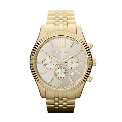 Michael Kors Men's Gold Tone Bracelet Watch - Product number 9901256