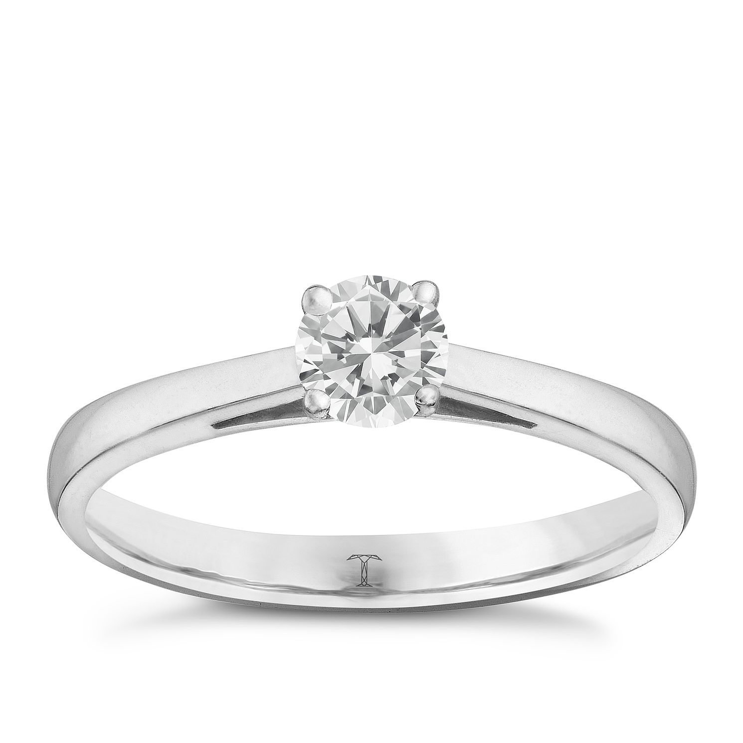 Tolkowsky Platinum 2/5ct I-I1 Diamond Ring - Product number 9907793