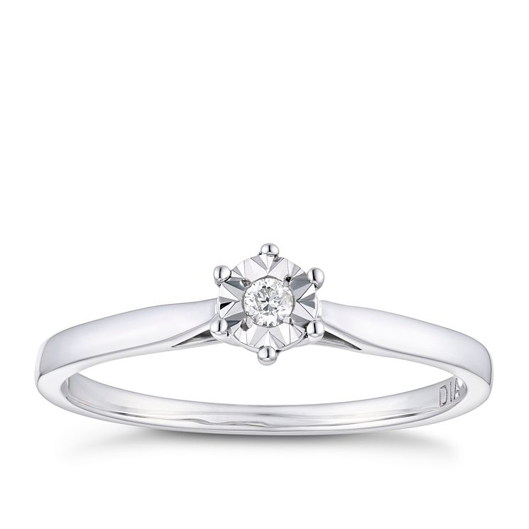 Ct White Gold Illusion Diamond Earrings