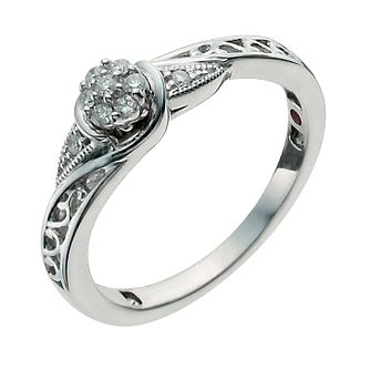 Cherished Argentium Silver Diamond Ring - Product number 9930760
