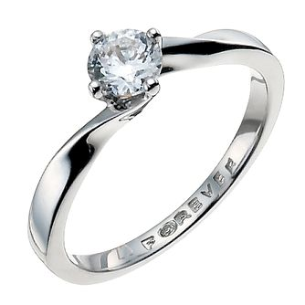 The Forever Diamond Palladium 0.33ct Ring - Product number 9935789