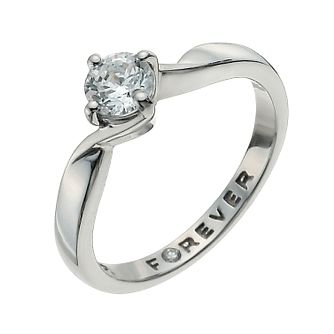 Palladium 1/2 Carat Forever Diamond Ring - Product number 9936033