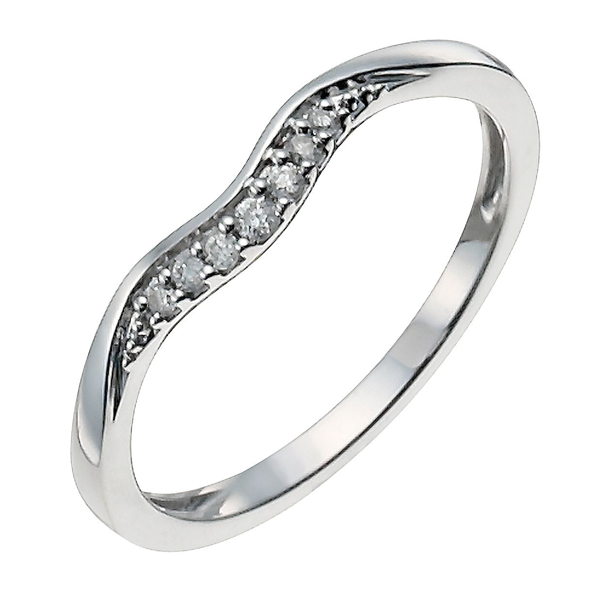 9ct White Gold Shaped Diamond Ring - Product number 9943994