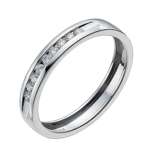9ct white gold 15 point channel set eternity ring - Product number 9945067