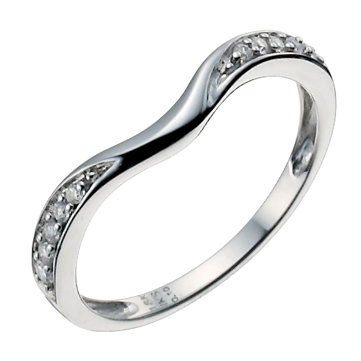 18ct White Gold 0.10ct Diamond Shaped Ring - Product number 9947094