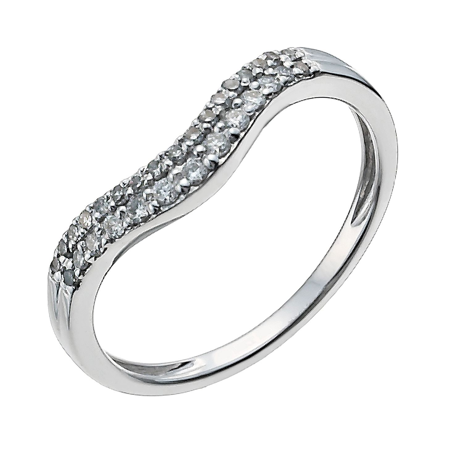 18ct White Gold 1/5ct Diamond Shaped Band - Product number 9947752