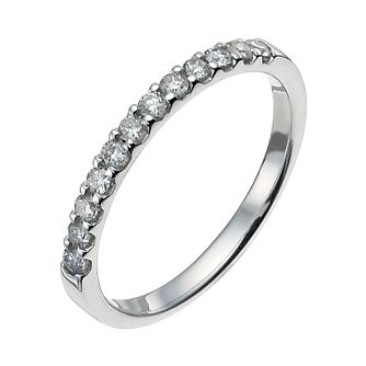18ct white gold 0.25ct eternity ring - Product number 9948155