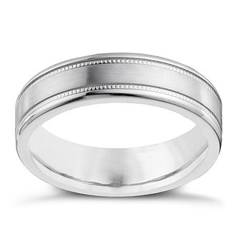 Cobalt 6mm flat double milgrain ring - Product number 9949577