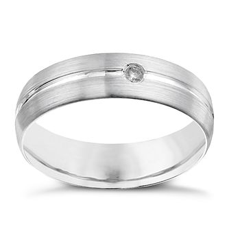 Palladium 950 6mm matte diamond ring - Product number 9950834
