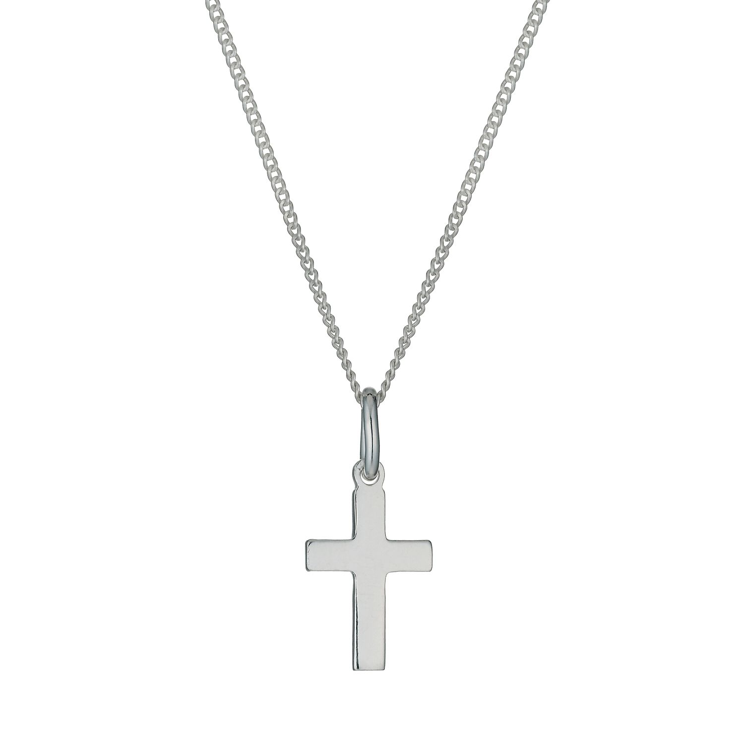 Sterling Silver Mini Cross Pendant Necklace - Product number 9952357