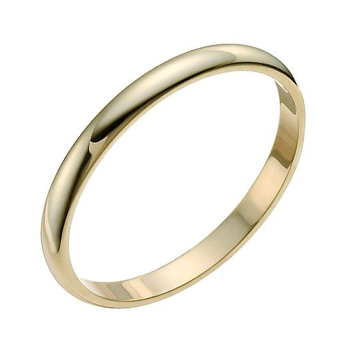 9ct Yellow Gold 2mm Extra Heavy D Shape Ring - Product number 9954325
