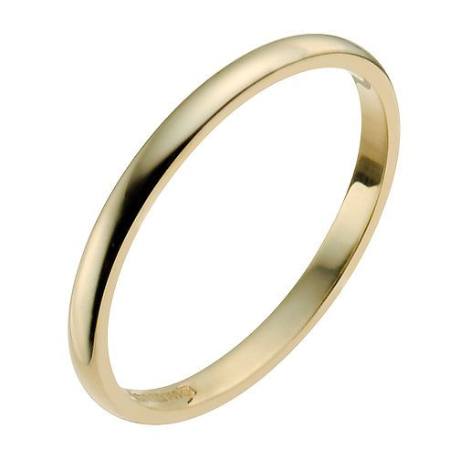 18ct Yellow Gold 2mm Extra Heavy D Shape Ring - Product number 9956212
