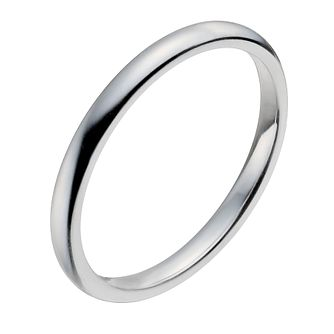 18ct White Gold 2mm Super Heavy Court Ring - Product number 9956352