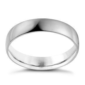 Palladium 950 4mm Extra Heavy D Shape Ring - Product number 9957588