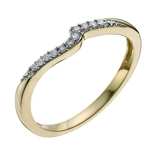 9ct Yellow Gold Shaped Diamond Ring - Product number 9962409